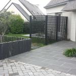 Le jardin d'une maison individuelle