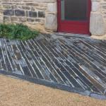 Création d une terrasse avec des piquets de schiste ardoise