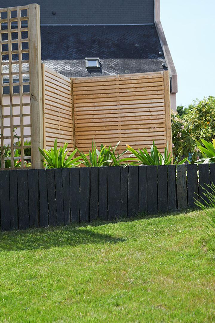 delimiter un jardin jardin potager carre brise vue naturel terrasse plantes suspendues cr. Black Bedroom Furniture Sets. Home Design Ideas