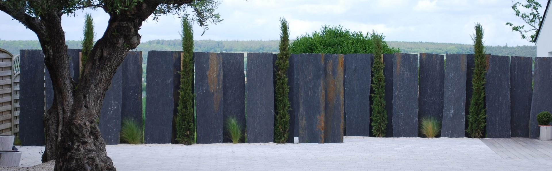 Piquet En Ardoise Bois Jardin aménagement paysager et décoration en ardoise par côté déco