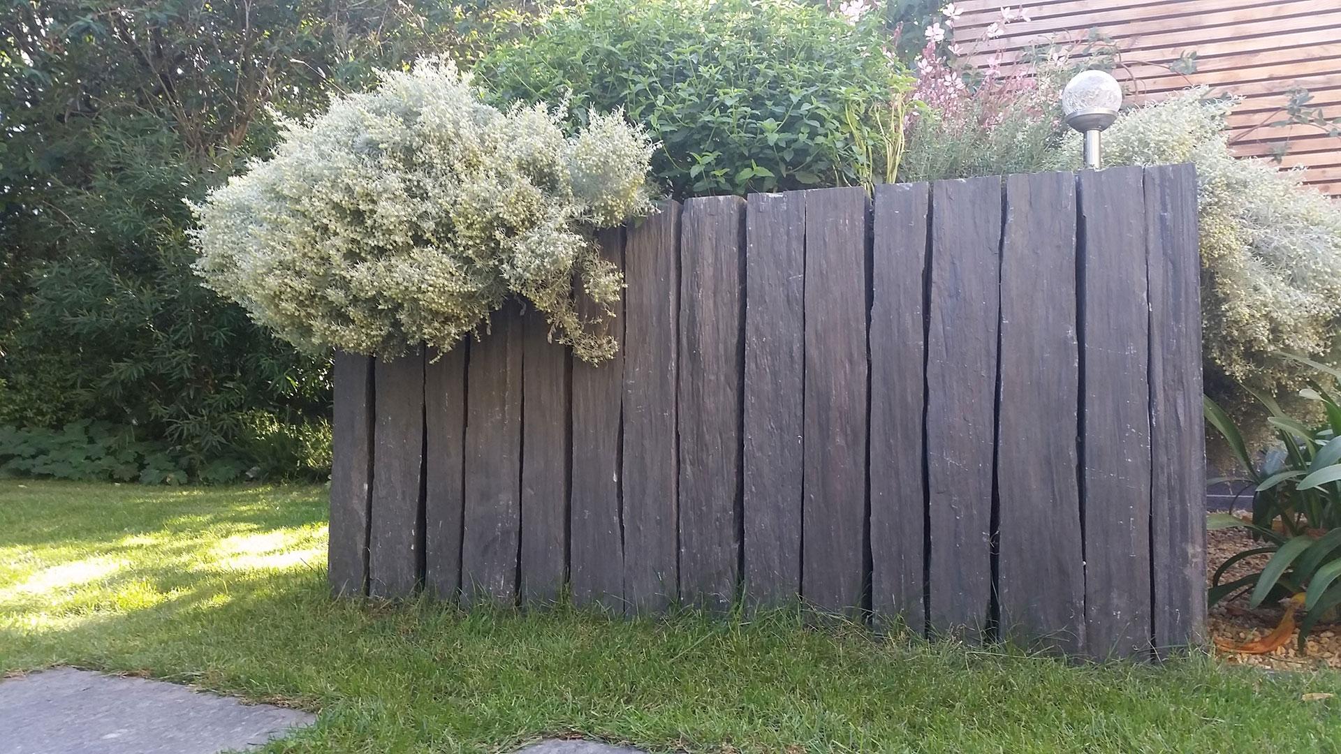 Piquet En Ardoise Bois Jardin des idées d'aménagements paysagers en ardoise par côté déco