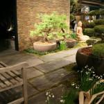 La terrasse zen d'une maison